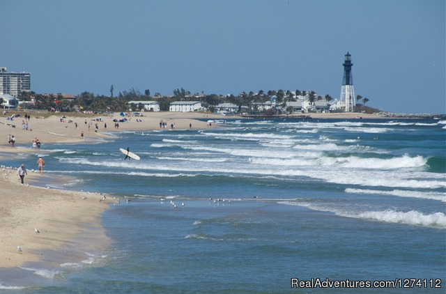 Three miles of public beach and historic lighthouse