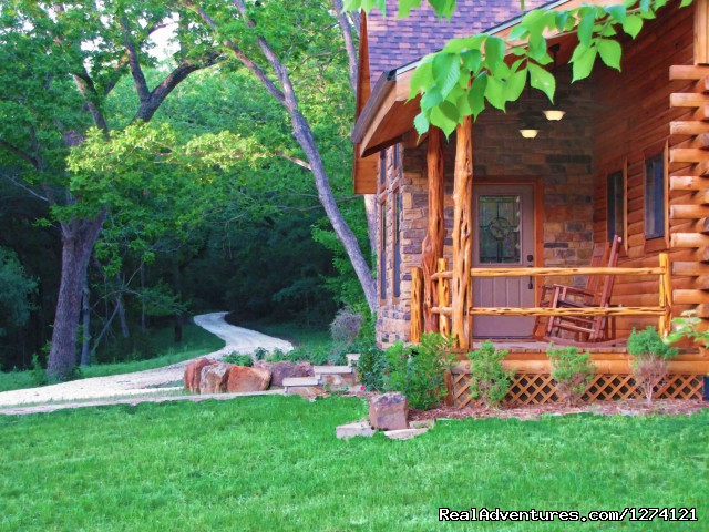 Driveway and Vacation House Porch (#2 of 9) - Ride & Stay at Brazos Bluffs Ranch & Stables