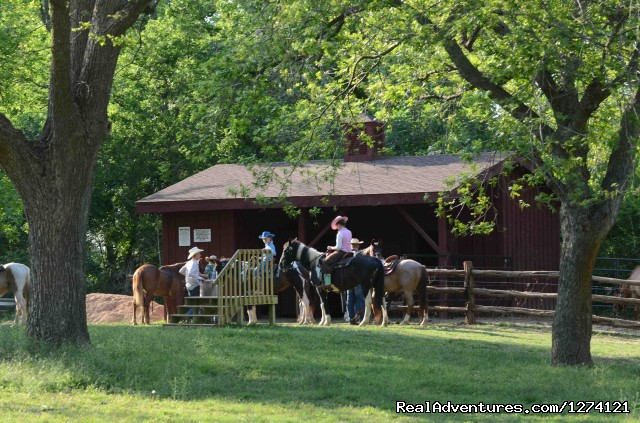 Horsebarn (#3 of 9) - Ride & Stay at Brazos Bluffs Ranch & Stables