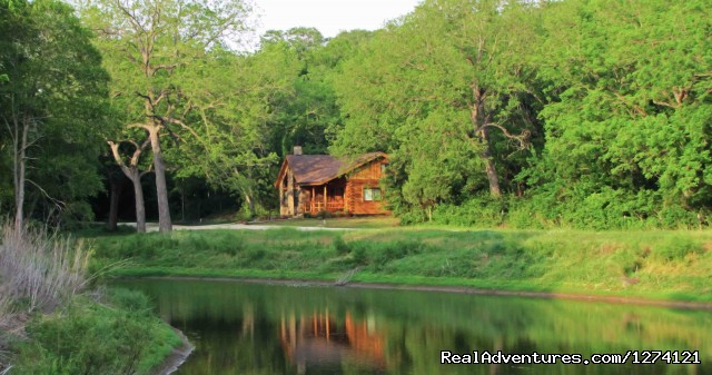 Vacation house on Private Pond - Ride & Stay at Brazos Bluffs Ranch & Stables