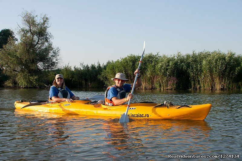 Kayaking tour in Danube Delta Delta, 4 days / 3 nights. Program 2013. It's a kayak trip with a zero degree of difficulty. Not a difficult tour but we must be careful to respect the program, to reach the place of accommodation.