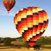 Champagne hot air balloon flights