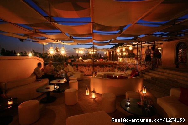 Romantic cafe in Marrakech - Morocco Safaris