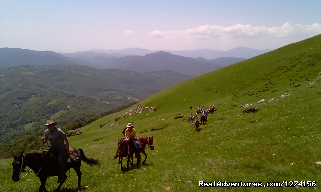Horse riding at only ecological country,Montenegro Amazing views of Sinjavinja mountain ranges 2