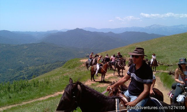 Horse riding at only ecological country,Montenegro Ride goes on...