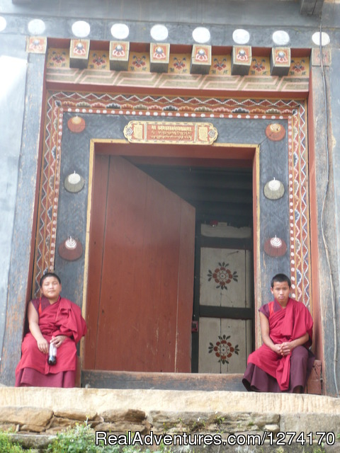 Monks in Bhutan - Trip to Bhutan