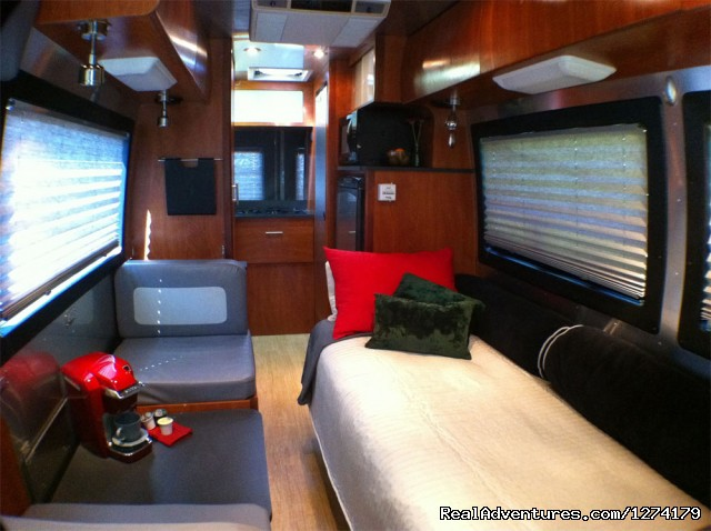 Overnight Camping - Airstream Interstate Touring Coach Rental RV