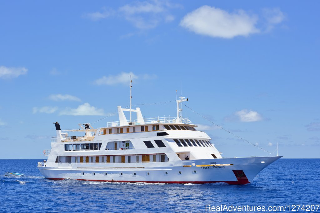 From swimming and snorkeling off pristine white sandbanks, night barbecues on uninhibited islands, or just relaxing on the sundeck with your favorite triple, crusing the Maldives on board the Yasawa Princess.