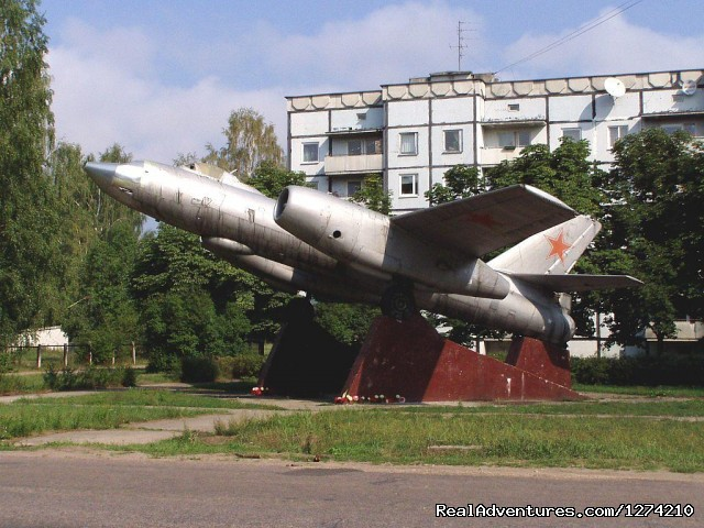 Monument of a Soviet bomber - Former Soviet union military objects in Latvia