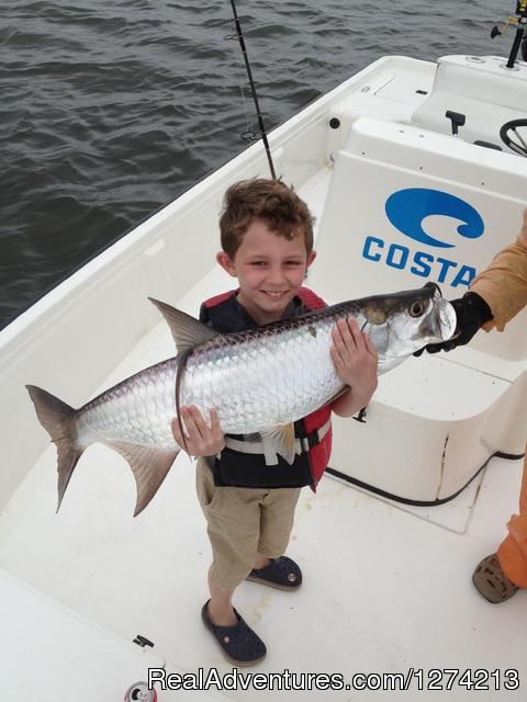 Little Fisherman with his Tarpon - Tarpon and Snook Fishing in San Juan