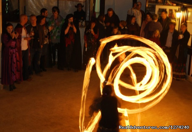 Fire show in the night - Awarded Halloween in Transylvania - Short Break
