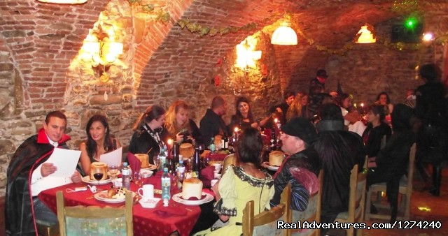 Party goers - Awarded Halloween in Transylvania - Short Break