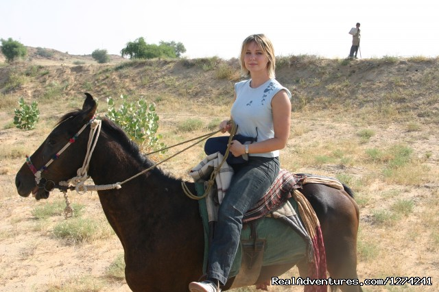 Riding on Semi hills - Royal Horse Safari in India