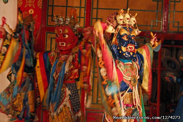 Blue Silk Travel:  Experience Mongolian Culture: Mongolian Tsam Dance