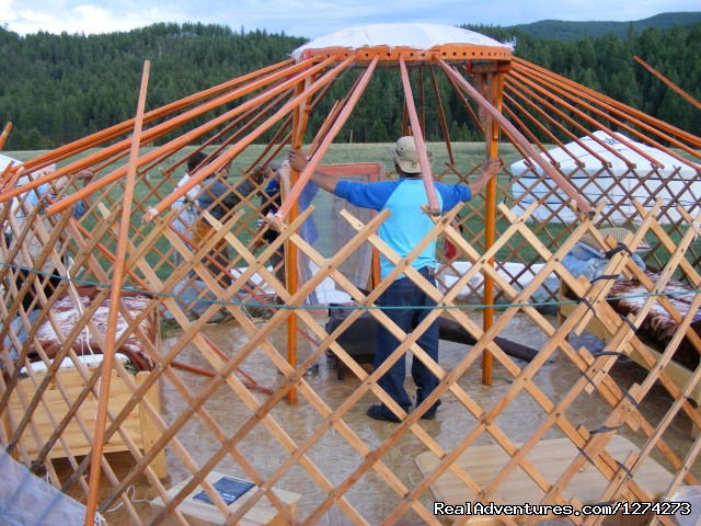 Mongolian Ger Building - Blue Silk Travel:  Experience Mongolian Culture