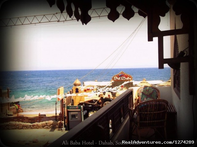 View From Balcony - Ali Baba Hotel Dahab