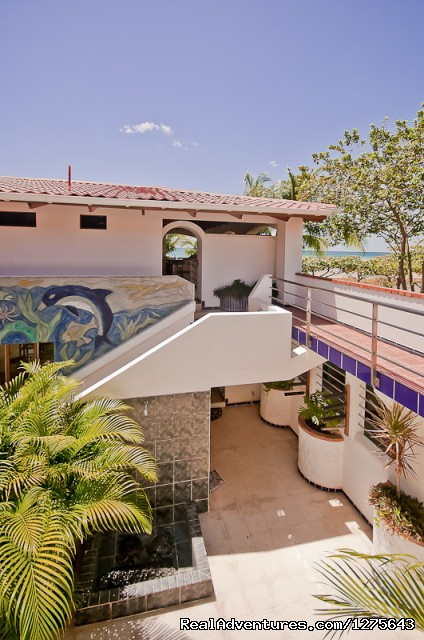 Inner Courtyard, multi level view - Spectacular Oceanfront Multi-Level 5 Bed Villa