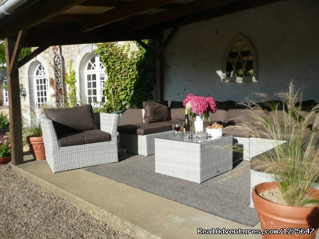 The Outside Terrace - B&B Golf Breaks in the Loire Valley, France