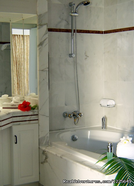 SBC features an Italian Marble Bathroom with tub - Sapphire Beach Club Resort, St. Maarten