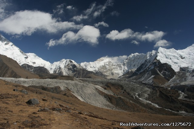 View after Lobuche - Classical Everest Base Camp Climbing