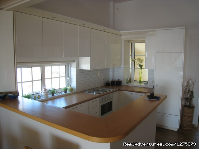 Kitchen - Holiday Apt- panoramic views of the Athens Riviera