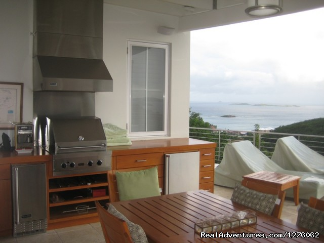 Outdoor Kitchen - Vacation Rental is Virgin Islands