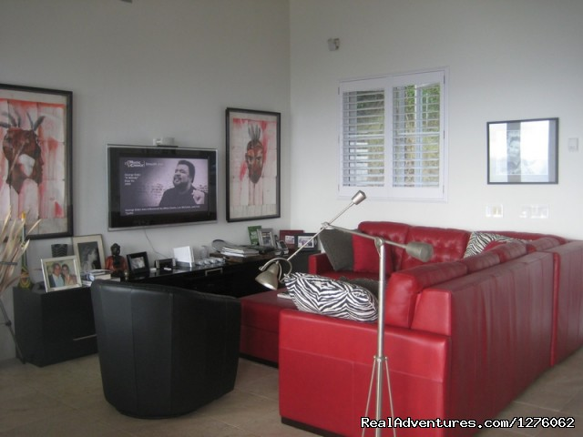 Living Room - Vacation Rental is Virgin Islands
