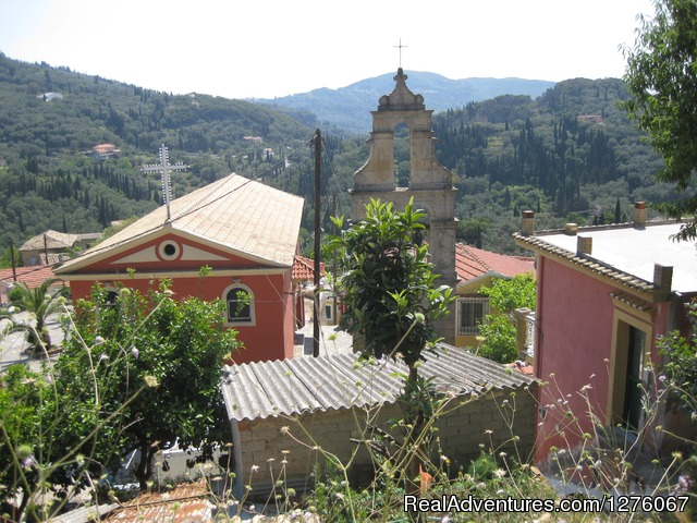St. Dimitrios mountain  Church - Walking&Hiking, sightseeing, Corfu Beach, holidays