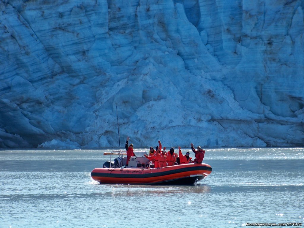 Ocean Raft at Lamplough Glacier