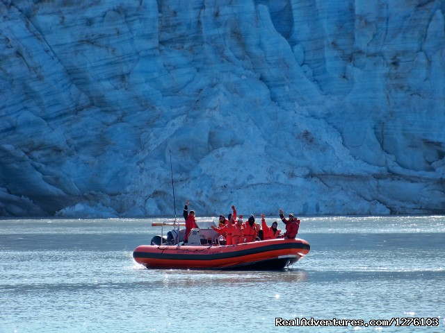 Ocean Raft at Lamplough Glacier - Outdoor Recreation Excursions from Sitka Alaska