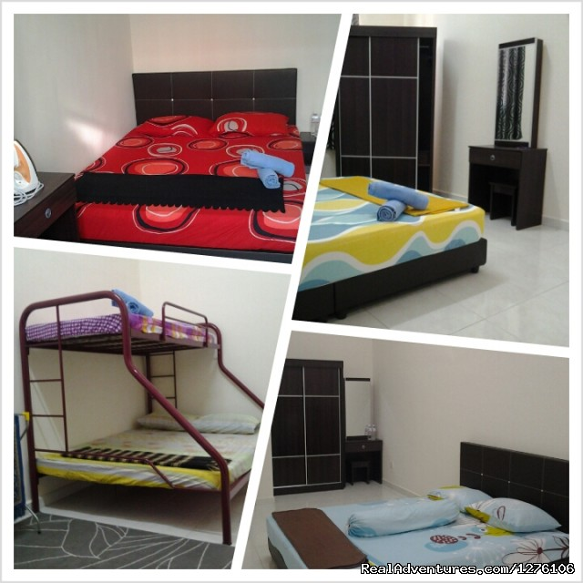 Bedroom 1,Bedroom 2,Bedroom 3 n 4 - Calm and privacy homestay