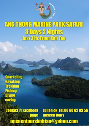 Anthong National park, Koh Tao, Thailand Cruises