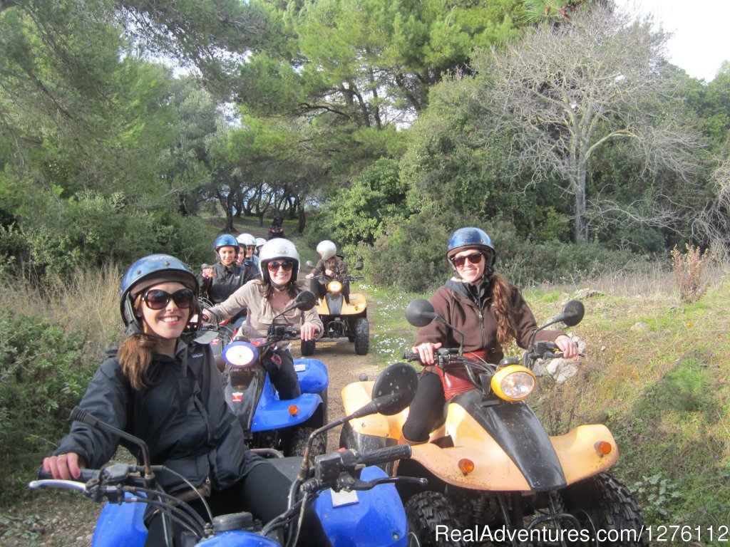 Off-roading through olive groves