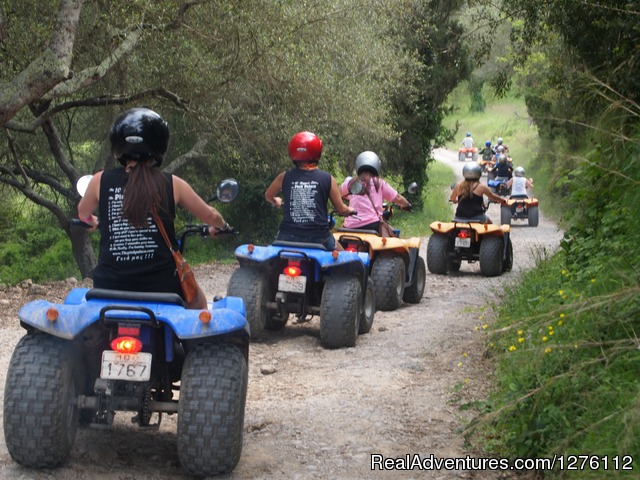 Off roading through mountains - Quad/ATV Safari Tour of Corfu Island