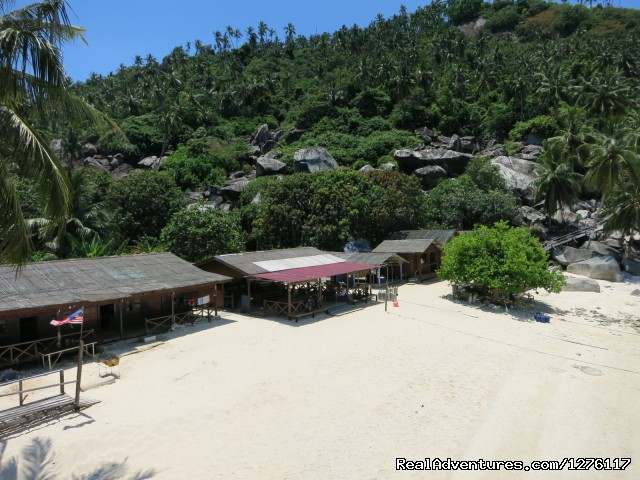 Our pristine beach - Alantis Bay Resort, diving paradise in Malaysia