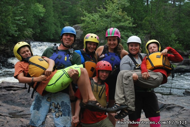 Group shot - Whitewater Canoe Tripping