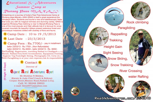 Educational and Adventures Summer Camp at Manali, (#1 of 1) - Summer camp in Manali, Rothang Pass, H.P, India.