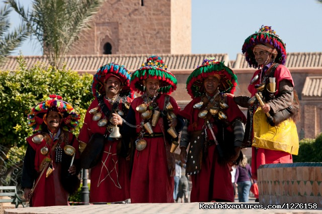 Watersellers in Marrakesh. - Bouaouina Tours-Morocco