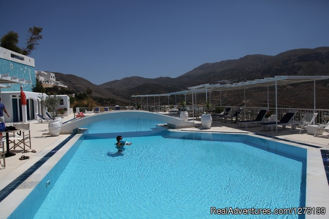 The pool area - Mind and Body Rejuvenation Aegean Island Retreat