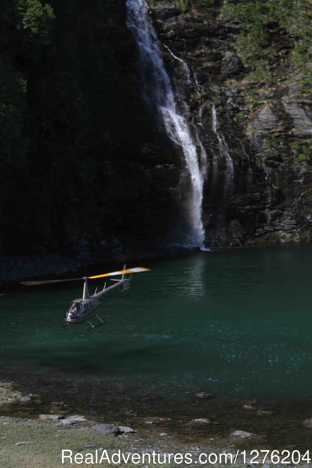Helicopter and Waterfall | Image #10/23 | Tsaina Lodge -Helicopter Fishing & Adventures