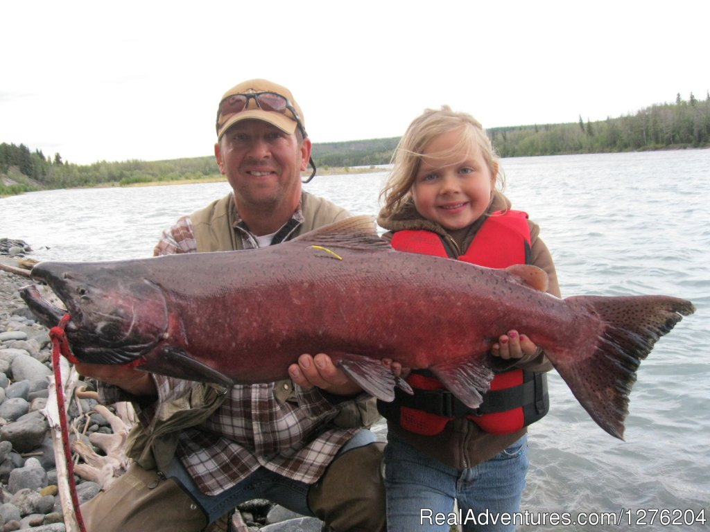 Daughter & Dad Salmon Fishing | Image #6/23 | Tsaina Lodge -Helicopter Fishing & Adventures