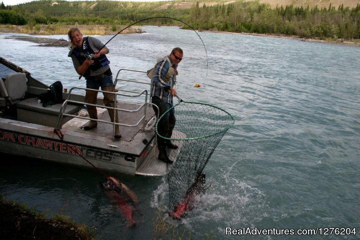Jet Boat fishing for Salmon | Image #14/23 | Tsaina Lodge -Helicopter Fishing & Adventures