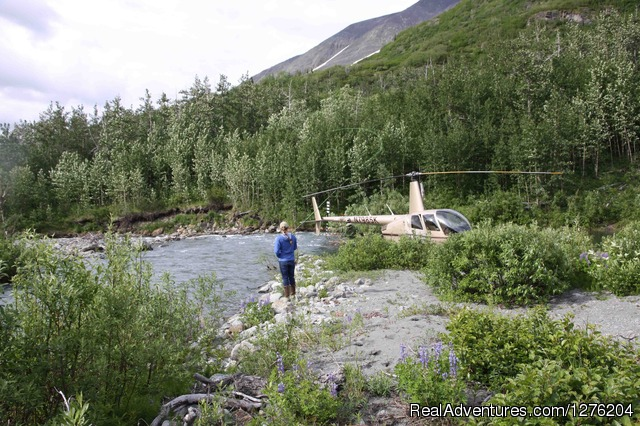 Heli Fishing from the Tsaina Lodge - Tsaina Lodge -Helicopter Fishing & Adventures