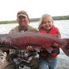 Tsaina Lodge -Helicopter Fishing & Adventures Daughter & Dad Salmon Fishing