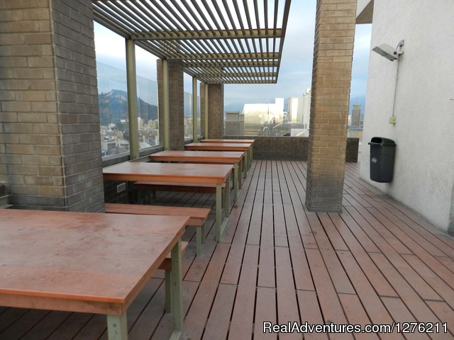 Barbecue Area - Best Location furnished Apart Santiago Downtown