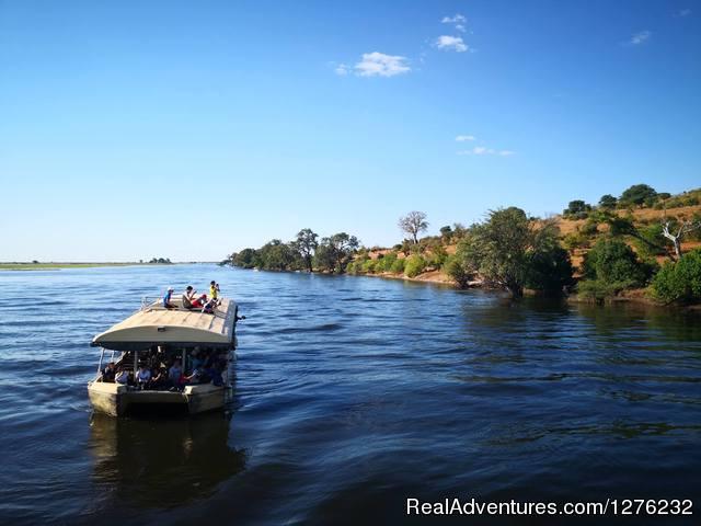 Mess Tent View - Okavango Delta In Botswana