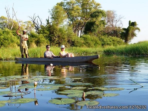 Okavango Delta In Botswana A Mokoro