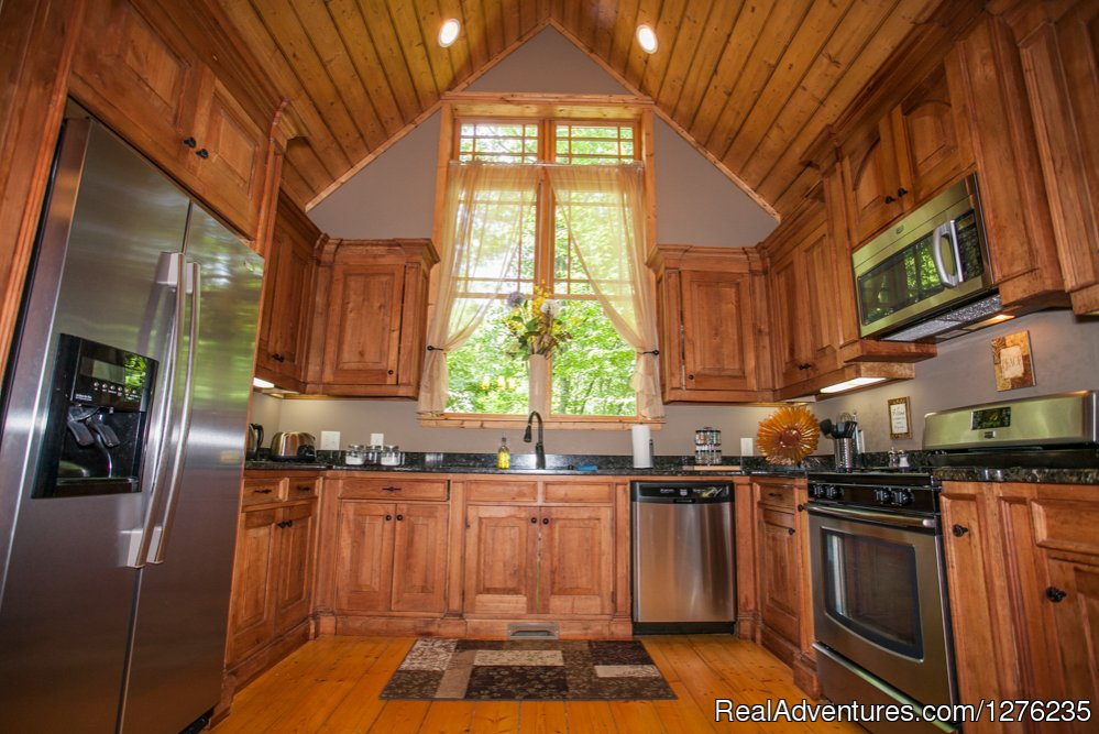 Kitchen | Image #6/22 | Luxury Wildflower Cabin in the Woods, Franklin NC