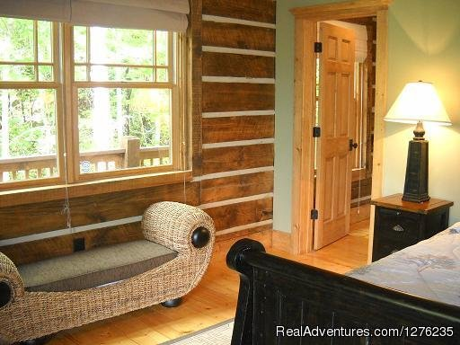 Master Bedroom | Image #9/22 | Luxury Wildflower Cabin in the Woods, Franklin NC