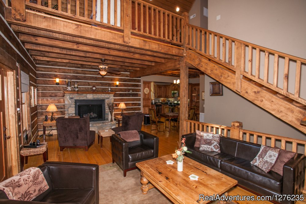 Livingroom | Image #4/22 | Luxury Wildflower Cabin in the Woods, Franklin NC